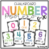 Chalkboard Number Posters 0-20