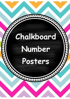 Chalkboard Number Posters 0 - 20