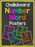 Chalkboard Number Posters - Bold and Bright