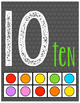 Chalkboard Number Posters ~Numbers 1-20 with Ten Frames an