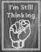 Chalkboard Number Talk Hand Signal Posters FREEBIE