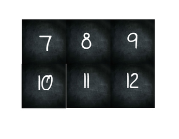 Chalkboard Number line/100s Chart Classroom Decor