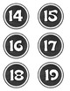 Round Chalkboard Numbers