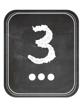 Chalkboard Numbers 1-10