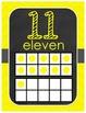 Number Display 1-20 Chalkboard Chevron Design