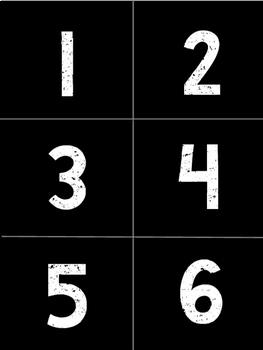 Chalkboard Numbers 1-30