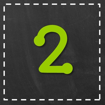 Chalkboard Numbers BUNDLE - Square