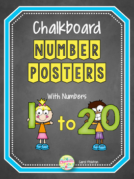 Chalkboard Numbers Posters