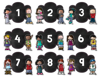 Chalkboard Numbers with Kidlettes
