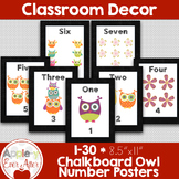 Chalkboard OWL Number Posters 1-30
