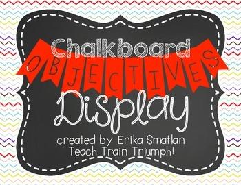 Chalkboard Objectives Display