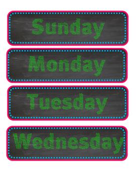Chalkboard Owl Calendar