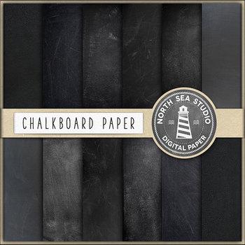 Chalkboard Paper - 24 Digital Backgrounds