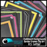 Framed Chalkboards: Chalkboard Clip Art - Letter Size