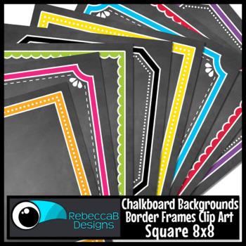Framed Chalkboards Clip Art (Square)