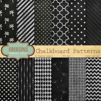 Chalkboard Patterns Digital Paper