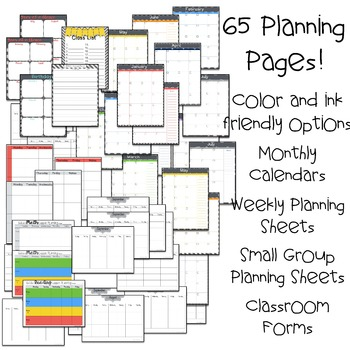 Chalkboard Patterns Teacher Planner