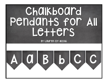 Chalkboard Pendants for All Letters