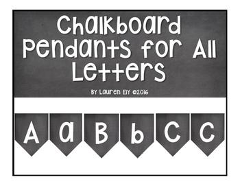 Chalkboard Pendants for All Letters