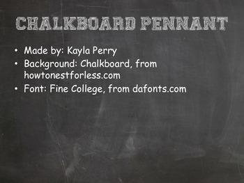 Chalkboard Pennant