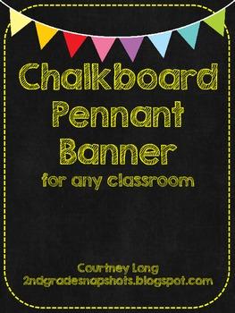 Chalkboard Pennant Banner