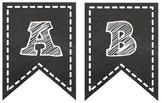 Chalkboard Pennant Banner {Entire Alphabet}