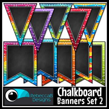 Chalkboard Bunting Clip Art Set 2
