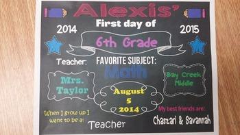 Chalkboard Picture