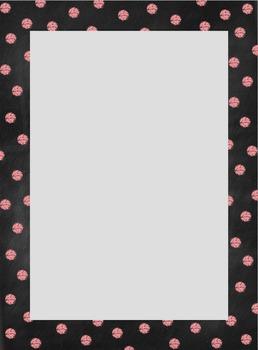 Chalkboard Polka Dot Border Set {Personal & Commercial Use}