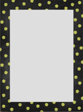 Chalkboard Polka Dot Border Set {Personal & Commercial Use}