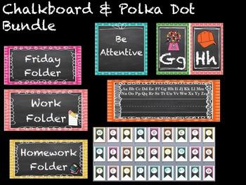 Chalkboard & Polka Dot Bundle