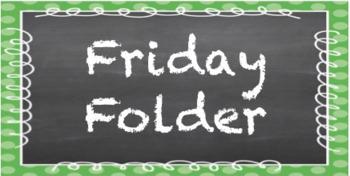 2x4 Chalkboard & Polka Dot Friday Folder Labels