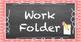2x4 Chalkboard & Polka Dot Work Folder Labels