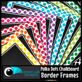 Framed Chalkboard Clip Art (Polka Dots)