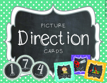 Chalkboard & Polka Dots {Picture Direction Cards}