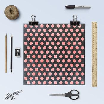 Chalkboard Polkadots Digital Paper, Chalkboard Backgrounds, Polkadot Patterns