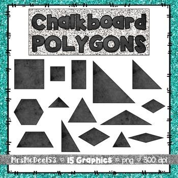 Chalkboard Polygon Graphics Clipart