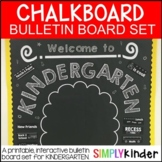 Meet the Teacher -Chalkboard Bulletin Board -kindergarten