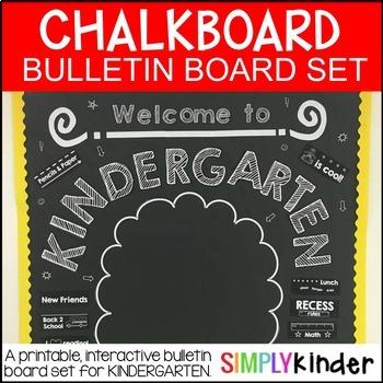 Meet the Teacher -Chalkboard Bulletin Board -kindergarten - First day of school