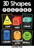 Chalkboard Posters 3D Shapes