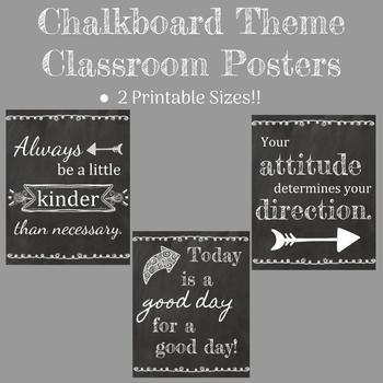 Chalkboard Posters Bundle