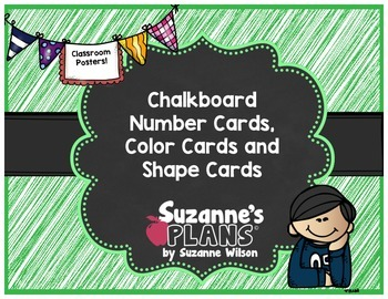 Chalkboard Posters - Numbers 0-30, Colors, Shapes