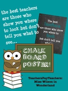 Chalkboard Posters - Teacher Bundle
