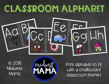 Chalkboard Print Alphabet