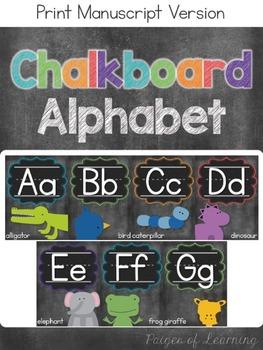 Chalkboard Print Alphabet Posters