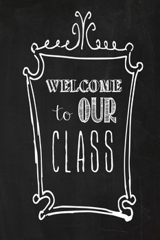 Chalkboard Printable for back to school