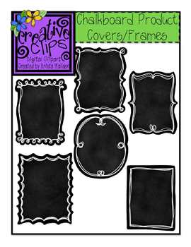 Chalkboard Product Covers {Creative Clips Digital Clipart}