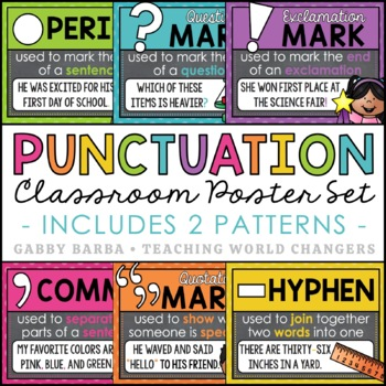Chalkboard Punctuation Marks Posters