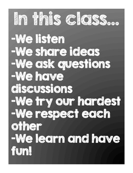 Chalkboard Quote Classroom Posters
