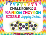 Rainbow Chevron Chalkboard Labels